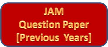 JAM Question Papers